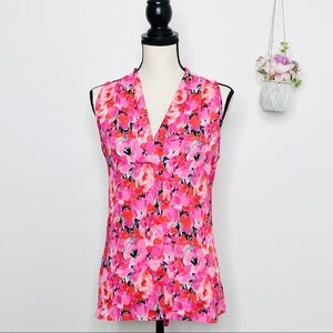 Vince Camuto Pink Poppy Sleeveless Career Top